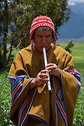 Quechua welcome, music, Misminay village, Sacred Valley, Cusco Region, Urubamba Province, Machupicchu District, Peru