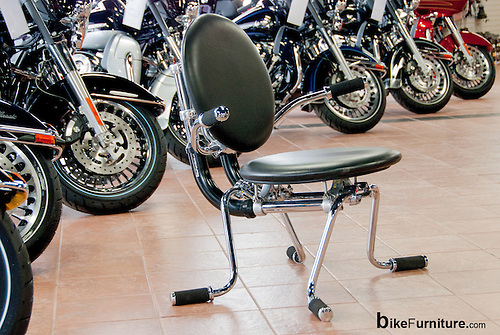 Chair Made From Reused Harley Davidson Motorcycle Parts. Shown Here At Bald  Eagle Harley Davidson.
