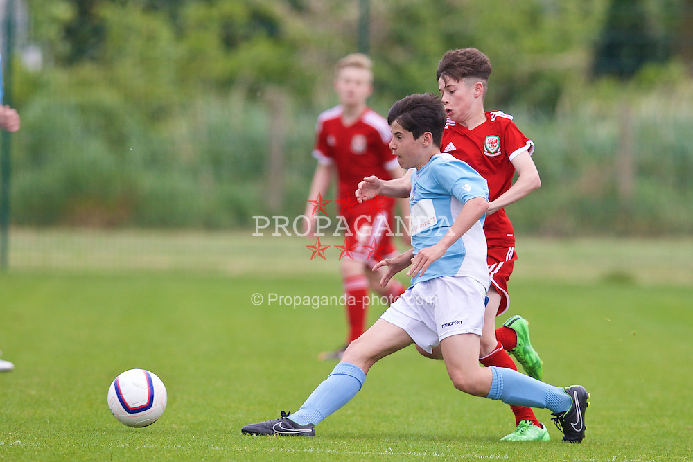 NEWPORT, WALES - Wednesday, May 27, 2015: South WPL Academy Boys' Jac Davies during the Welsh Football Trust Cymru Cup 2015 at Dragon Park. (Pic by David Rawcliffe/Propaganda)