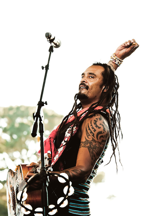 Michael Franti and Spearhead play Power to the Peaceful Festival in Golden Gate Park, in San Francisco, CA.  Copyright 2010 Reid McNally.