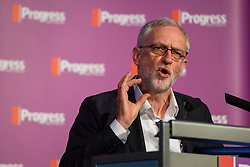 © Licensed to London News Pictures. 14/05/2016. London, UK. Leader of the Labour Party, JEREMY CORBYN gives a keynote address to Progress annual conference at TUC Congress Centre in London. Photo credit: Ben Cawthra/LNP