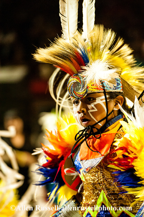 Gathering of Nations Pow Wow Junior Boys Grass Dance in Albuquerque New Mexico