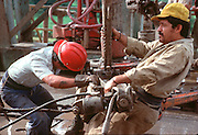 MEXICO, INDUSTRY Pemex drill rig in Tabasco State