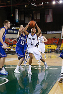 November 27th, 2010:  Anchorage, Alaska - Weber State junior guard Damian Lillard (1) goes to the hoop in the Wildcats 82-81 victory over the Drake Bulldogs in the third place game of the Great Alaska Shootout.