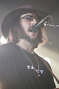June 17, 2006; Manchester, TN.  2006 Bonnaroo Music Festival. Les Claypool performs at Bonnaroo 2006.  Photo by Bryan Rinnert