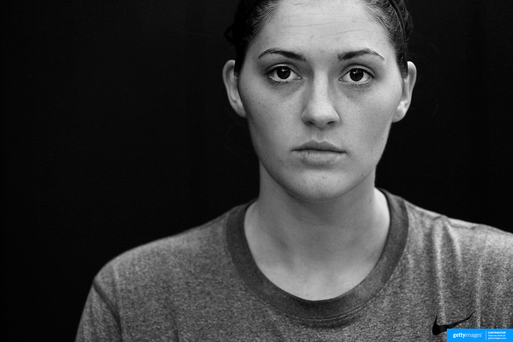 Player Portraits: Stefanie Dolson <br /> <br /> The 2016 USA Basketball Women's National Team Training Camp at the  University of Connecticut&rsquo;s Werth Family UConn Basketball Champions Center, Storrs, Connecticut. 21st February 2016. Photo Tim Clayton