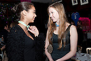 TENISHIA MCSWEENEY; SIAN LEAKE, Bitch- Auction and fundraiser for the dog charity Care. The Cuckoo Club, London. 7 December 2010. -DO NOT ARCHIVE-© Copyright Photograph by Dafydd Jones. 248 Clapham Rd. London SW9 0PZ. Tel 0207 820 0771. www.dafjones.com.