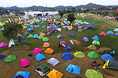 Thousands Of Tents Appear During The International Camping Congress