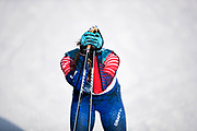 PYEONGCHANG-GUN, SOUTH KOREA - FEBRUARY 15: Jessica Diggins of USA dejected during the women's 10k free technique Cross Country competition at Alpensia Cross-Country Centre on February 15, 2018 in Pyeongchang-gun, South Korea. Photo by Nils Petter Nilsson/Ombrello               ***BETALBILD***