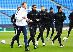 Thiago Motta of PSG warms up - Mandatory byline: Matt McNulty/JMP - 07966386802 - 11/04/2016 - FOOTBALL - Manchester City v PSG - Etihad Stadium -Manchester,England - UEFA Champions League