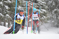MIZDRAK Damir Guide: DEBELJAK Luka, B3, CRO at 2018 World Para Alpine Skiing World Cup slalom, Veysonnaz, Switzerland