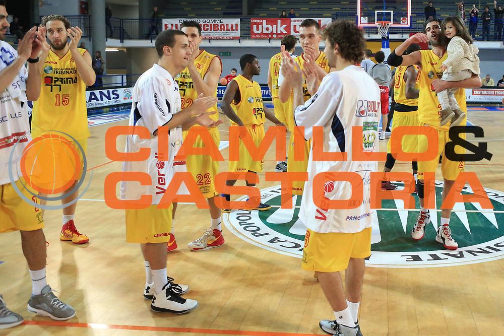 DESCRIZIONE : Frosinone Lega Basket A2  eurobet 2012-13  Prima Veroli Aget Nature Imola<br /> GIOCATORE : team<br /> CATEGORIA : esultanza<br /> SQUADRA : Prima Veroli<br /> EVENTO : Lega Basket A2  eurobet 2012-13 <br /> GARA : Prima Veroli Aget Nature Imola<br /> DATA : 27/01/2013<br /> SPORT : Pallacanestro <br /> AUTORE : Agenzia Ciamillo-Castoria/ M.Simoni<br /> Galleria : Lega Basket A2 2012-2013 <br /> Fotonotizia : Frosinone Lega Basket A2  eurobet 2012-13  Prima Veroli Aget Nature Imola<br /> Predefinita :