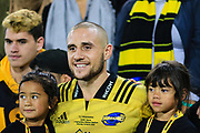 TJ Perenara after  the super rugby union  game between Hurricanes  and Highlanders, played at Westpac Stadium, Wellington, New Zealand on 24 March 2018.  Hurricanes won 29-12.