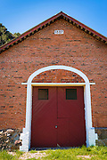Historic warehouse at Prisoners Harbor, Santa Cruz Island, Channel Islands National Park, California USA