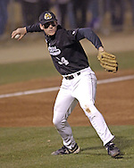 Wichita State third basemen Conor Gillaspie fires the ball to first base agaisnt Kansas State.  K-State defeated the 19th ranked Shockers 6-3 at Tointon Stadium in Manhattan, Kansas, March 14, 2006.