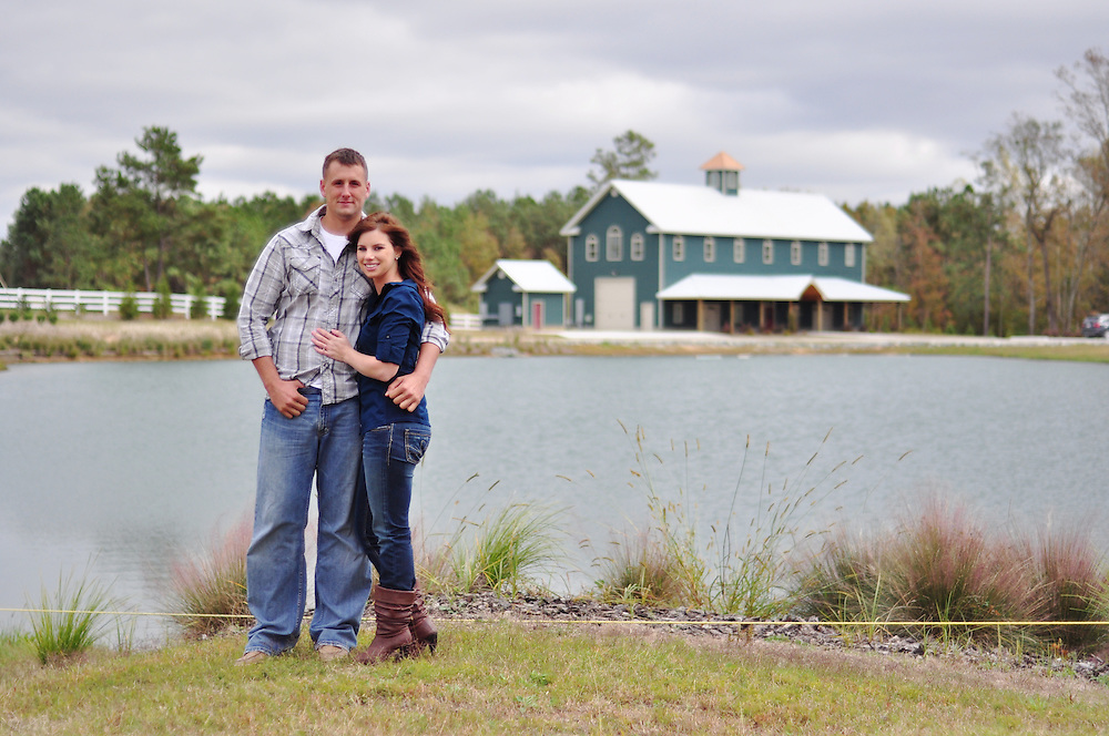 Brandon and Erika Engagement   Jacksonville NC Photographers