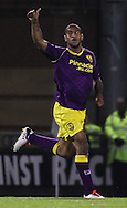 Picture by David Horn/Focus Images Ltd +44 7545 970036<br /> 17/09/2013<br /> Danny Haynes of Notts County celebrates scoring during the Sky Bet League 1 match at the Matchroom Stadium, London.