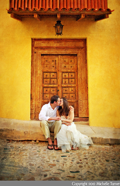 A wedding in the old section of Puerto Vallarta, Mexico.  Image by Puerto Vallarta wedding photographer Michelle Turner.