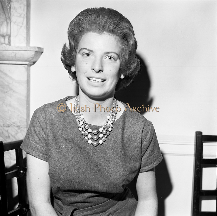 23/11/1964<br /> 11/12/1964<br /> 23 November 1964<br /> <br /> 19 Sales Girls from various parts of Ireland, at a Presentation in the Royal Hibernian Hotel <br /> <br /> Miss Frances Brennan, McBirneys, Dublin