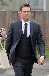 Blue star and Big Brother Contestant Lee Ryan arrives at Ealing Magistrates Court, London, UK, where he is charged with drink driving after a night out in London.<br /> Friday, 2nd May 2014. Picture by Ben Stevens / i-Images