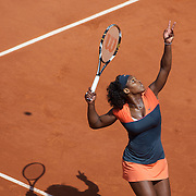 Serena Williams, USA, in action during her victory over Aleksandra Wozniak, Canada, at the French Open Tennis Tournament at Roland Garros, Paris, France on Monday, June 1, 2009. Photo Tim Clayton.