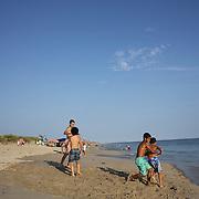 A beach scene at Madaket Beach, Nantucket, Nantucket Island, Massachusetts, USA. Photo Tim Clayton