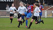Mary Onianwa making the breakthrough during the FA Women's Premier League match between Crystal Palace LFC and Bedford Ladies at Bromley Football Club, Bromley, Kent, United Kingdom on 15 March 2015. Photo by Michael Hulf.