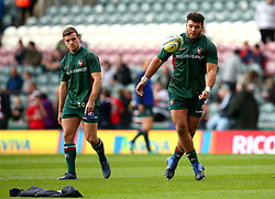 Ellis Genge of Leicester Tigers and George Ford of Leicester Tigers - Mandatory by-line: Robbie Stephenson/JMP - 16/09/2017 - RUGBY - Welford Road - Leicester, England - Leicester Tigers v Gloucester Rugby - Aviva Premiership