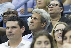 September 5, 2017 - New York, New York, United States - John Kerry attends match between Venus Williams of USA & Petra Kvitova of Czech Republic at US Open Championships at Billie Jean King National Tennis Center  (Credit Image: © Lev Radin/Pacific Press via ZUMA Wire)