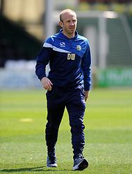 Yeovil Town's Coach Darren Way - Photo mandatory by-line: Harry Trump/JMP - Mobile: 07966 386802 - 11/04/15 - SPORT - FOOTBALL - Sky Bet League One - Yeovil Town v Notts County - Huish Park, Yeovil, England.