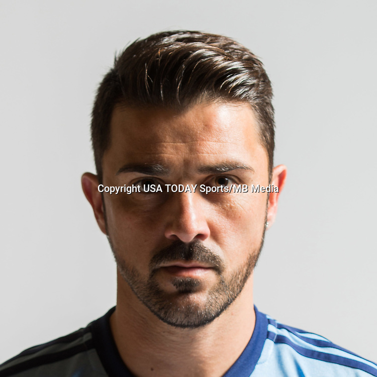 Feb 25, 2017; USA; New York City FC player David Villa poses for a photo. Mandatory Credit: USA TODAY Sports