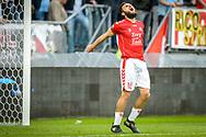 20-05-2017: Voetbal: FC Utrecht v SC Heerenveen: Utrecht<br /> <br /> (L-R) FC Utrecht speler Nacer Barazite baalt van een gemiste kans tijdens het Eredivisie duel tussen FC Utrecht en Heerenveen op 20 mei 2017 in stadion Galgenwaard tijdens 1/2 finale play-offs <br /> <br /> 1/2 finale Play-offs, Eredivisie - Seizoen 2016 / 2017<br /> <br /> Foto: Gertjan Kooij