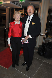 PETER BOWLES and his wife SUE at the opening of the new St.James Theatre, 12 Palace Street, London SW1 on 13th September 2012.