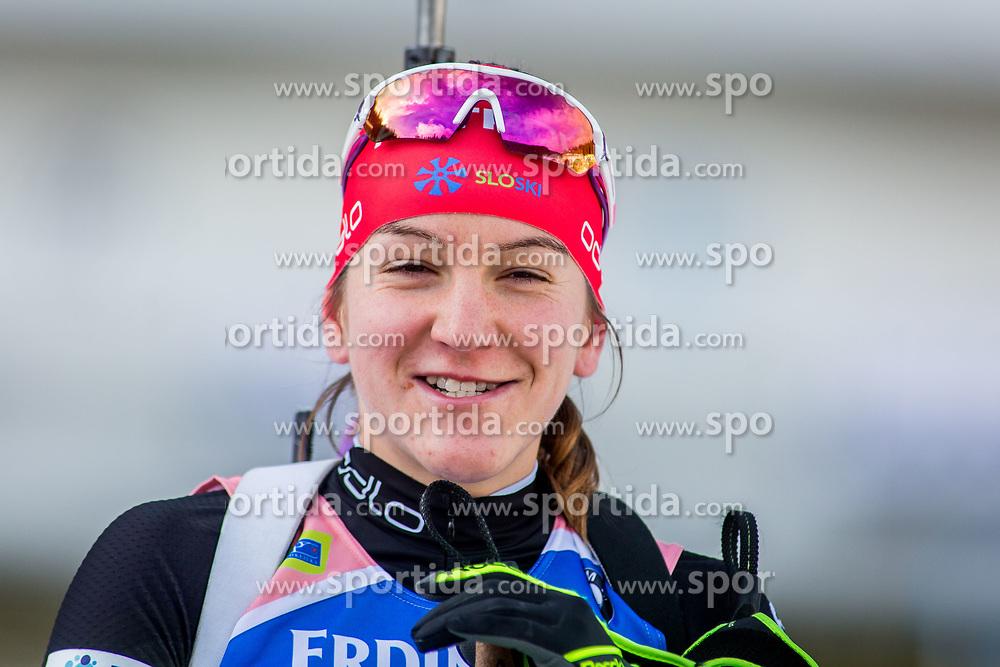 Lea Einfalt (SLO) during Women 15km Individual at day 5 of IBU Biathlon World Cup 2018/19 Pokljuka, on December 6, 2018 in Rudno polje, Pokljuka, Pokljuka, Slovenia. Photo by Ziga Zupan / Sportida