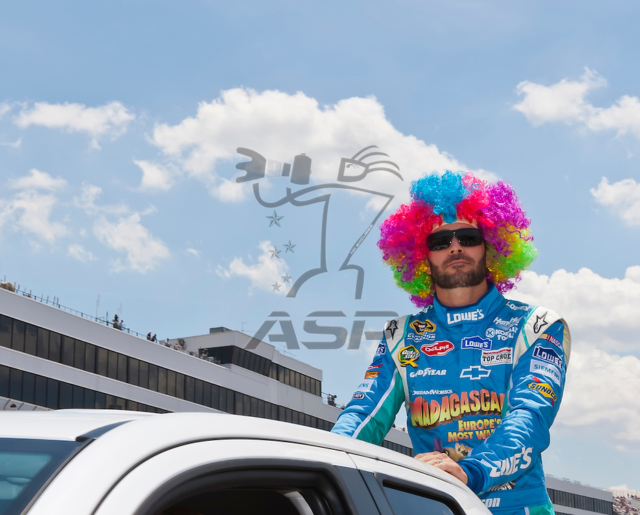 DOVER, DE - JUN 03, 2012:  Jimmie Johnson (48) prepares for the FedEx 400 Benefiting Autism Speaks at the Dover International Speedway in Dover, DE.