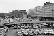 Saluhallen i Klara och hus H vid Centralen. Båda idag rivna.