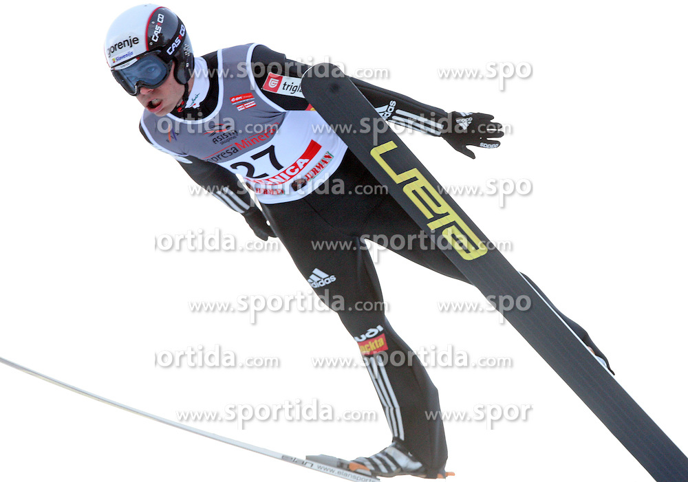Jernej Damjan of Slovenia at e.on Ruhrgas FIS World Cup Ski Jumping on K215 ski flying hill, on March 14, 2008 in Planica, Slovenia . (Photo by Vid Ponikvar / Sportal Images)./ Sportida)