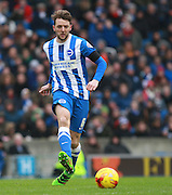 Brighton central midfielder Dale Stephens during the Sky Bet Championship match between Brighton and Hove Albion and Bolton Wanderers at the American Express Community Stadium, Brighton and Hove, England on 13 February 2016. Photo by Bennett Dean.