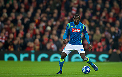 LIVERPOOL, ENGLAND - Tuesday, December 11, 2018: Napoli's Kalidou Koulibaly during the UEFA Champions League Group C match between Liverpool FC and SSC Napoli at Anfield. (Pic by David Rawcliffe/Propaganda)