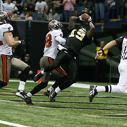 2007 December, 2: New Orleans Saints wide receiver Devery Henderson (19) catches a touchdown pass during a 27-23 win by the Tampa Bay Buccaneers over the New Orleans Saints at the Louisiana Superdome in New Orleans, LA.