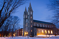 I enjoyed a nice stroll around the Bowdoin Campus this evening. There's something in me that is screaming to capture every last snowy scene I can before we head into spring.  These blue hour shots are my favorite in the winter, as the snow takes on a special quality.
