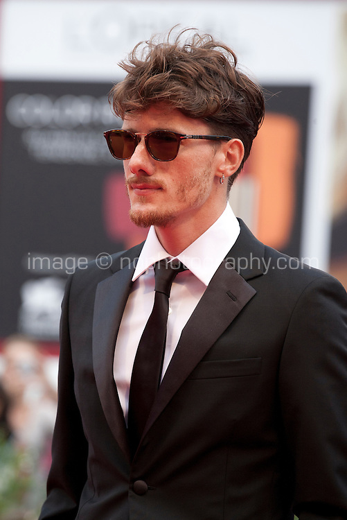Actor Antonio Folletto at the gala screening for the film L'attesa at the 72nd Venice Film Festival, Saturday September 5th 2015, Venice Lido, Italy.