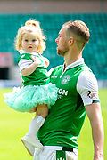 Steven Whittaker and daughter after the Ladbrokes Scottish Premiership match between Hibernian and Rangers at Easter Road, Edinburgh, Scotland on 13 May 2018. Picture by Kevin Murray.