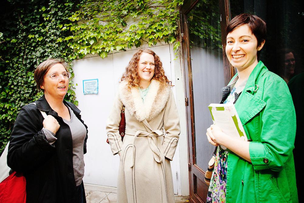 Glennis McCarthy, Julie Klausner, Kambri Crews, Kristen Johnston - G.L.O.C. [Gorgeous Ladies of Comedy] Re-Launch Party - Littlefield - Brroklyn, New York - May 2, 2012
