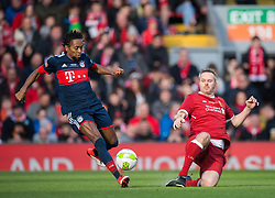 LIVERPOOL, ENGLAND - Saturday, March 24, 2018J. Dietmar Hamann of Liverpool Legends in action with Ze Roberto of FC Bayern Legends during the LFC Foundation charity match between Liverpool FC Legends and FC Bayern Munich Legends at Anfield. (Pic by Peter Powell/Propaganda)
