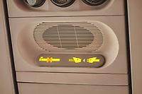 Airplane seat belt sign on