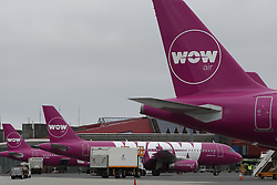 March 28, 2019 - Keflavik, Iceland - Icelandic budget carrier Wow Air has ceased operations and cancelled its flights, leaving passengers stranded on both sides of the Atlantic. The airline announced the closure in a statement posted to its website. (Credit Image: © Leonid Faerberg/Russian Look Via Zuma Wire/TNS via ZUMA Wire)