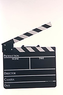 A clapboard photographed in the Dennis Brack studio in 2000<br /> <br /> Photo by Dennis Brack