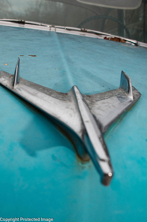 Chevrolet Bel Air Hood ornament, blue and white