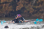 Crews compete in flight #1 at the Head of the Gorge Rowing Regatta along the Gorge Waterway in Victoria B.C. Oct 26, 2013